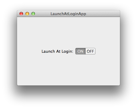 Launch At Login App